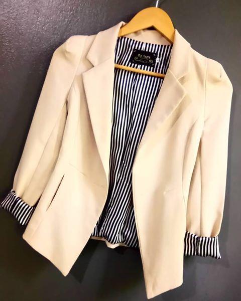Beige Blazer Coat (Size 8)