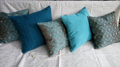 Blue Custom Cushions